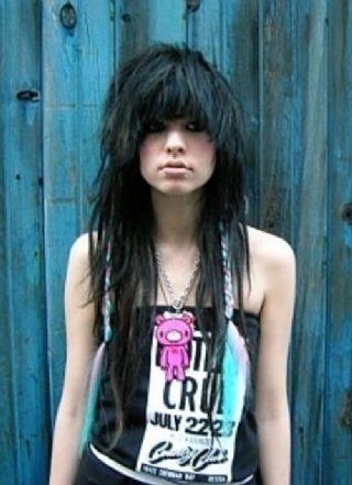 Womens Long Straight Hairstyles Emo Haircuts Long Hair Styles Hair Styles Long Scene Hair