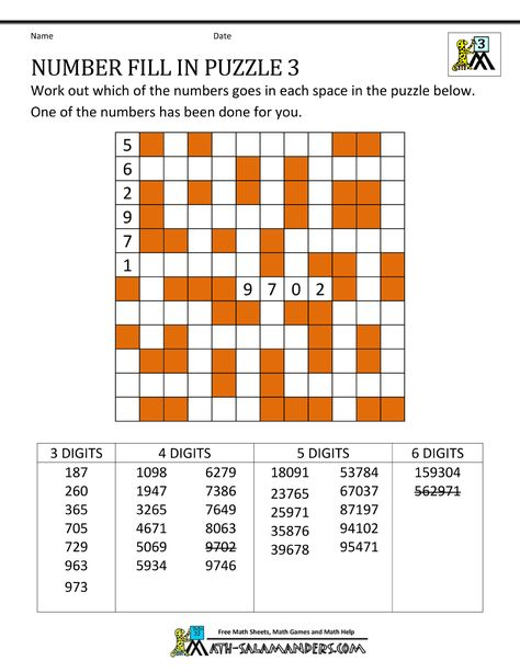 math puzzles for kids number fill in puzzle 3