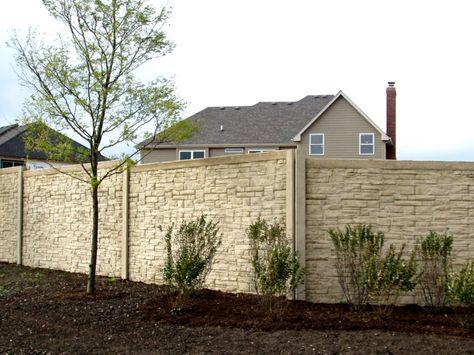 Haus Garten Gartenzaun Sichtschutz Mit Und Aus Naturstein