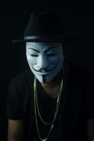 A Dark Guy Fawkes Face Mask Wallpaper Full Hd Background For Iphone And Samsung Guy Fawkes Mask Guy Fawkes Man Photo Cool wallpapers of people wearing masks