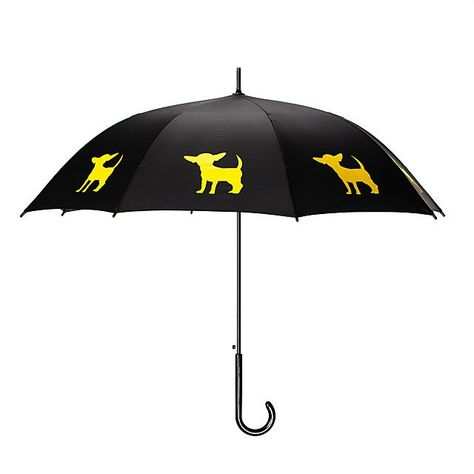 Chihuahua Umbrella Yellow on Black