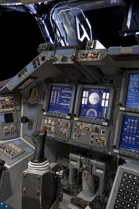 Flight Deck Detail, Space Shuttle Atlantis shuttle The Space Shuttle — Roland Miller Photography