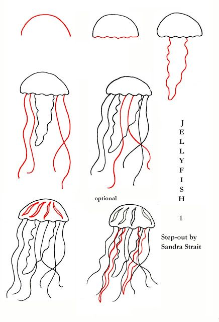 Jellyfish Friday Fun And Easy Landscape Challenge Funandeasylandscape Step Out Zensations Youtang Jellyfish Drawing Jellyfish Painting Watercolor Jellyfish