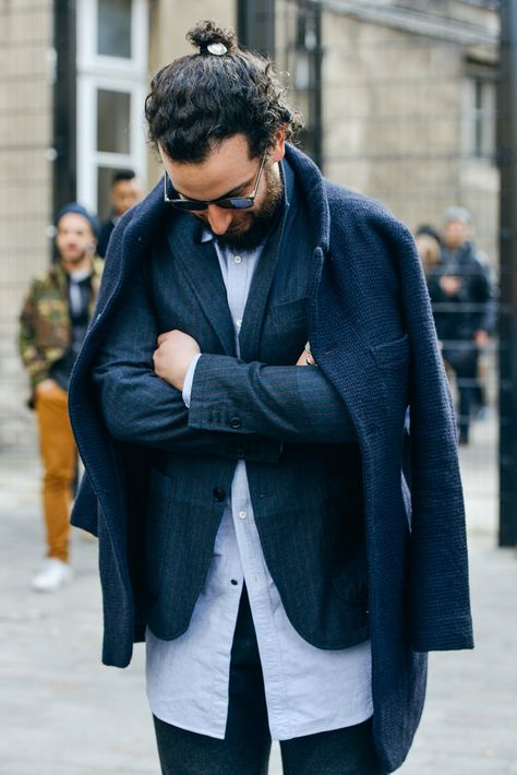 Tommy Ton in Paris: Street Style at the Fall '15 Men's Shows - Gallery - Style.com #Paris #PFW #TommyTon #Fall'15 #StreetStyle