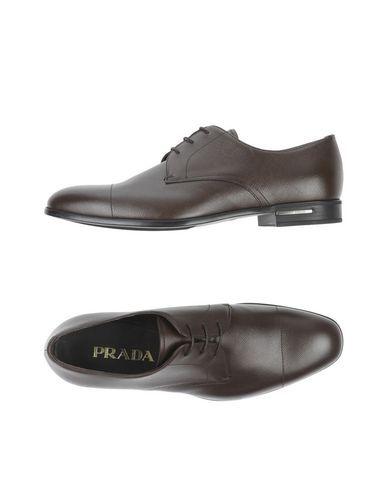 PRADA Men's Lace-up shoe Dark brown 10 US