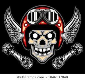 Image by Shutterstock Skull Rider Biker Apparel Men/'s Tee