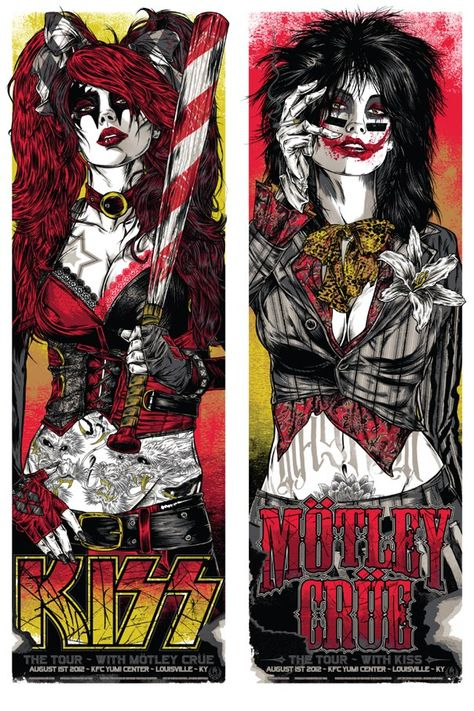 2013 Motley Crue and KISS Louisville, KY tour poster