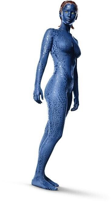 X-men Mystique Raven Darkholme Blue Jumpsuit Cosplay  Bodysuit Outfit Costume