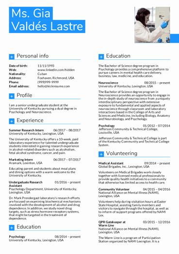 Phd Industry Resume Example Elegant Resume Examples By Real People Business Management Graduate Cv Example In 2020 Resume Examples Resume Summary Examples Resume Guide