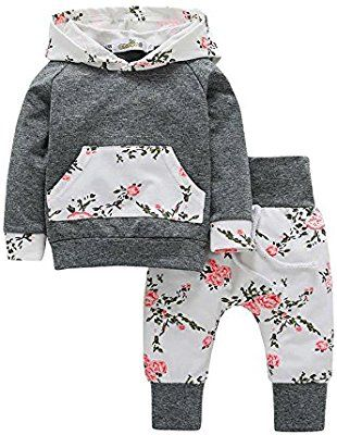 Floral Toddler Kids Baby Girl Pullover Sweatshirt Tops Hoodie Clothes Outfits