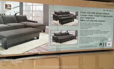 Chaise Sectional Sofa With Storage Ottoman At Costco Sectional Sofa Storage Ottoman Costco Sectional Chaise sofa with storage ottoman