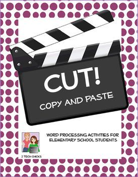Word Processing and Editing Activities - Cut, Copy, and Paste! for