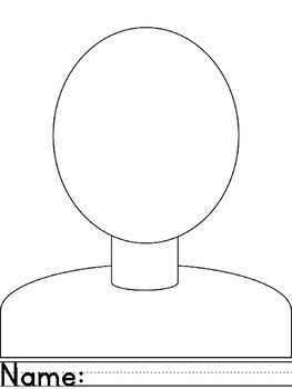 Face Portraits Blank Self Portrait Drawing Face Template