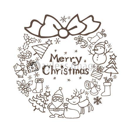 クリスマス素材のリース サンタクロース クリスマスツリー トナカイ 雪だるま の写真 イラスト素材 Xf4525199178 ペイレスイメージズ クリスマス 素材 クリスマス フェルト クリスマスツリー
