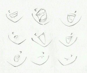 Art Draw And Drawing Image Drawing Heads Anime Lips Anime Mouth Drawing