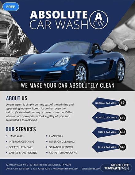 Car wash flyer template microsoft word templates.