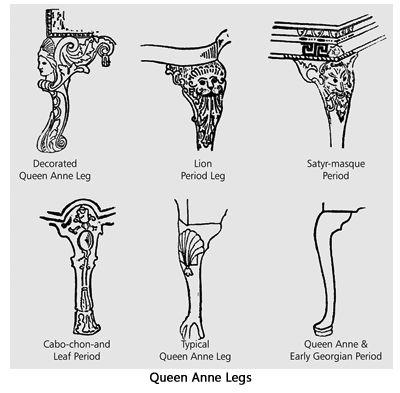 queen anne leg template - curved furniture legs name furniture designs