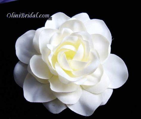 Off White Gardenia Bridal Flower Hair Clip Bridal Hair Flower Clip Bridal Hair Flowers Flower Hair Clips