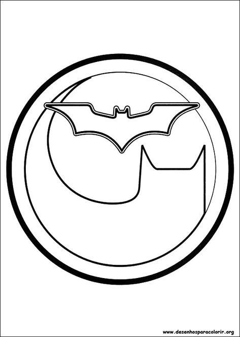 Desenho Para Imprimir Paginas Para Colorir Simbolo Batman Batman