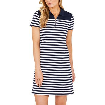 4d13f0a29b Heritage stripe polo dress | fitness | Dresses, Polo, Athleisure trend