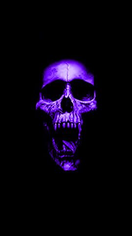 Purple Skull Black And Purple Wallpaper Skull Wallpaper Purple Wallpaper Hd