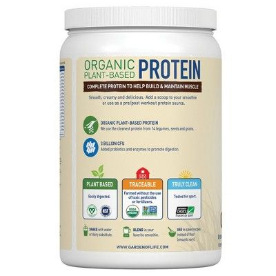 Garden Of Life Organic Vegan Protein Powder Chocolate 19 2oz