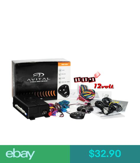 Avital 3100LX Car Alarm W// 2 Remotes Keyless Entry Trunk Release 3 Channel