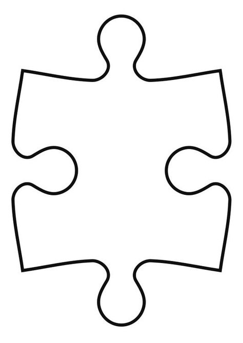 Printable Puzzle Pieces Template  Each Child Decorates A Puzzle