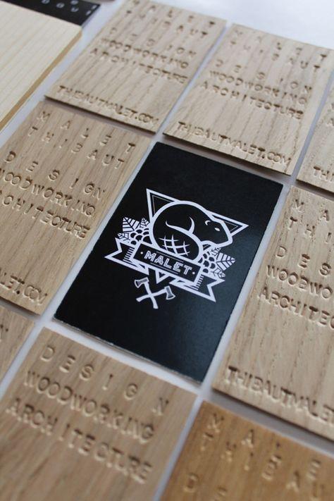 Ausgefallene Visitenkarten Visitenkarte Aus Holz Cool