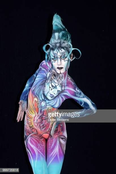A Model Painted By Bodypainting Artist Allakrasnova From Russia Body Painting Festival Body Painting Body Art Painting