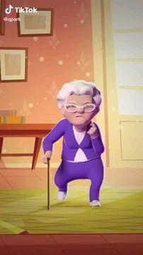 Divertido video de la abuelita que baila♥️✨ #imagif