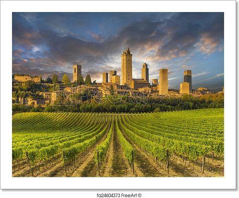 San Gimignano Tourist Attraction Spots, Superb Views Historic Town, World Heritage
