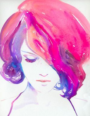 What Hairstyle Fits Your Personality Watercolor Girl