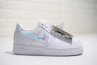 Nike Air Force 1 100 White Replaceable Iridescent Swoosh Nike Air Shoes Air Force Shoes Nike Air Force