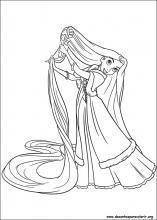 Desenhos Do Enrolados Para Colorir Rapunzel E Tiana Rapunzel