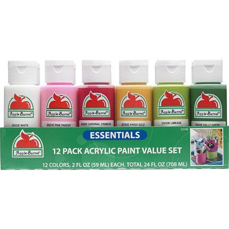 Walmart Apple Barrel Essentials 12 Color Paint Set Only 4 94