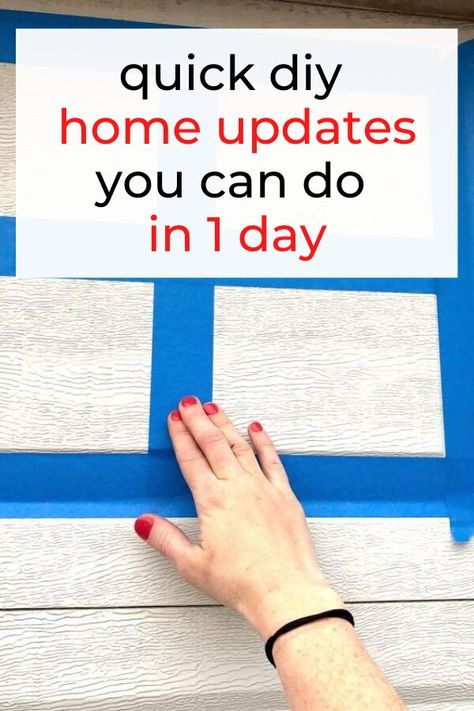 Update your home decor in a day with these easy and simple diy ideas. Home upgrades on a budget. Easy home updates for cheap diy. #hometalk
