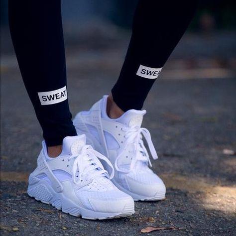 reputable site 3eac1 55f18 Custom White Huaraches - Shoes - Urban Royalty