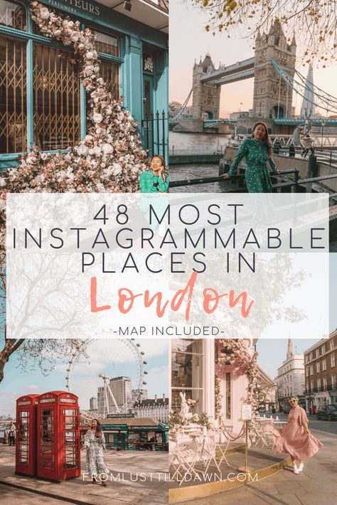 Look no further for the most Instagrammable places in London. Check out these 50 places that'll make your feed pop with color and whimsy. Includes a Google Map with all locations and tips for shooting photos in London! Click through now. // PIN FOR LATER // #london #uk #londontravel #londonphotos #londoninstagram #instagrammablelondon #instagrammableplacesinlondon