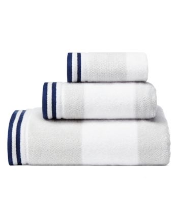 Nautica Santee Grey 3 Pc Towel Set Pastel Grey Towel Set