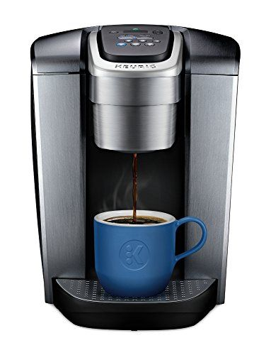 Keurig K Elite K Single Serve K Cup Pod Maker With Strong Temperature Control Iced Coffee Capability 12oz Brew Size Programmable Brushed Silver Pod Coffee Makers Single Serve Coffee Makers Keurig Coffee Makers