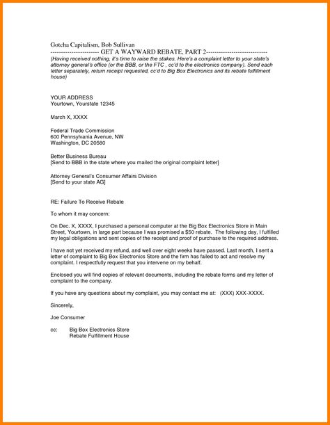 Business Letters English See Enclosure Letter Format Sample With