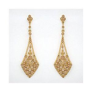 deco gold drop earrings