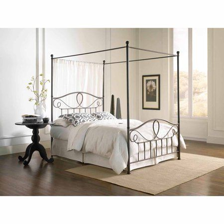 Home In 2020 Bed Styling Canopy Bed Frame Contemporary Canopy Beds
