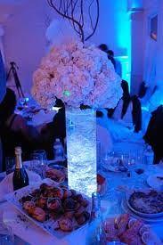 hydrangea centerpiece with LED lights | Nafeesa Mowla | Flickr