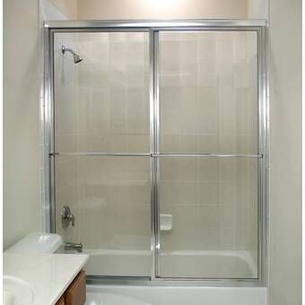 Rotolo 56 W X 57 H Bypass Semi Frameless Tub Door In 2020 Tub Doors Shower Doors Sliding Shower Door