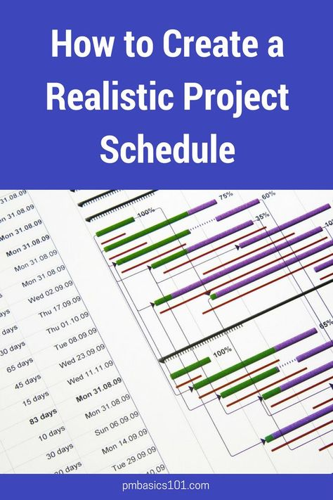 How to Create a Realistic Project Schedule   PM Basics