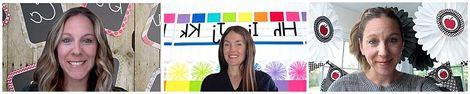 Schoolgirl Style - ZOOM Classroom Digital Backgrounds Pack 01