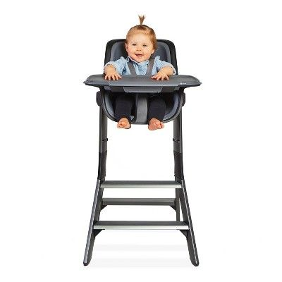 4moms High Chair With Magnetic One Handed Tray Attachment Black