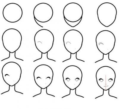 54 Best Ideas Drawing Anime Faces Simple Drawing People Easy Cartoon Drawings Anime Head